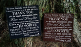 Wedding / Anniversary Guest Thank You sign