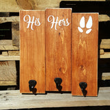His Hers Animal Print pallet sign with hooks