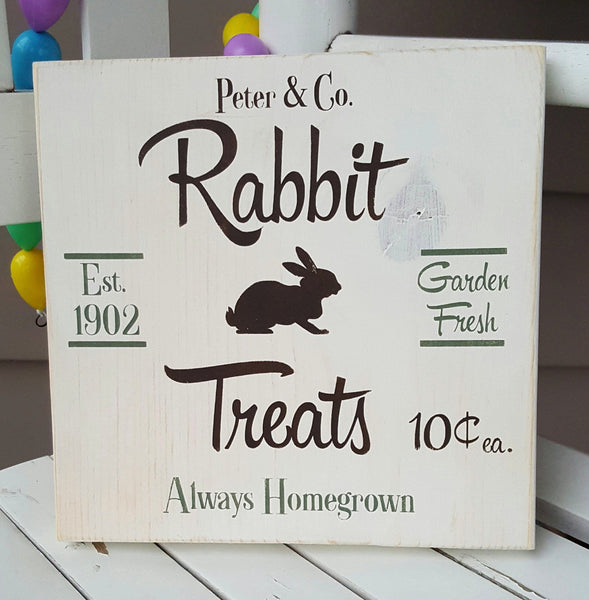 Rabbit Treats wood sign