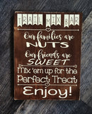 Trail Mix Bar wood sign