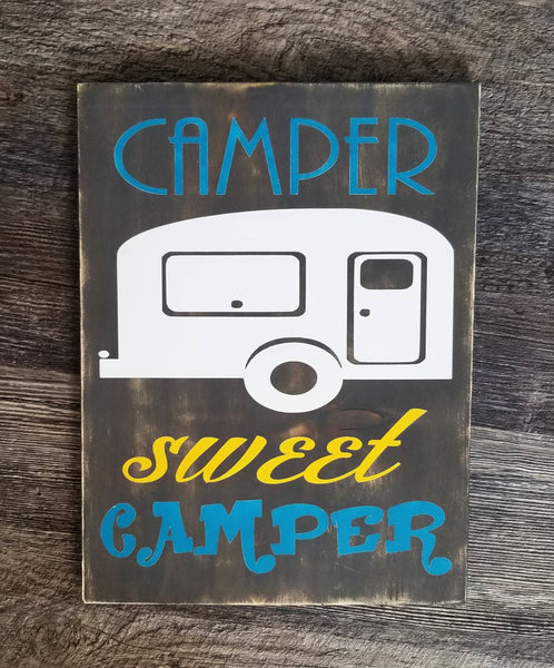 Camper Sweet Camper wood sign