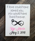If Love Could Have Saved Saved You pet memorial wood sign