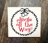 Jingle All The Way Christmas / Happy Halloween reversible wood sign