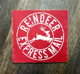 Pumpkin Bakery / Reindeer Express Mail Christmas reversible wood sign