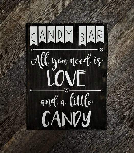 Candy Bar wood sign