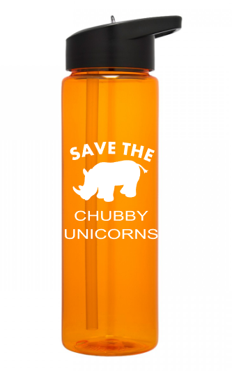 Save The Chubby Unicorns 24 ounce sports water bottle - Kelly Belly Boo-tique  - 1