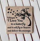 "6"" x 6"" Whisper I Love You To A Butterfly ceramic tile"