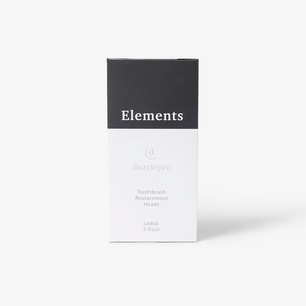 Elements Replacement Brushes (Large) | Sonic Toothbrush - 3 Pack