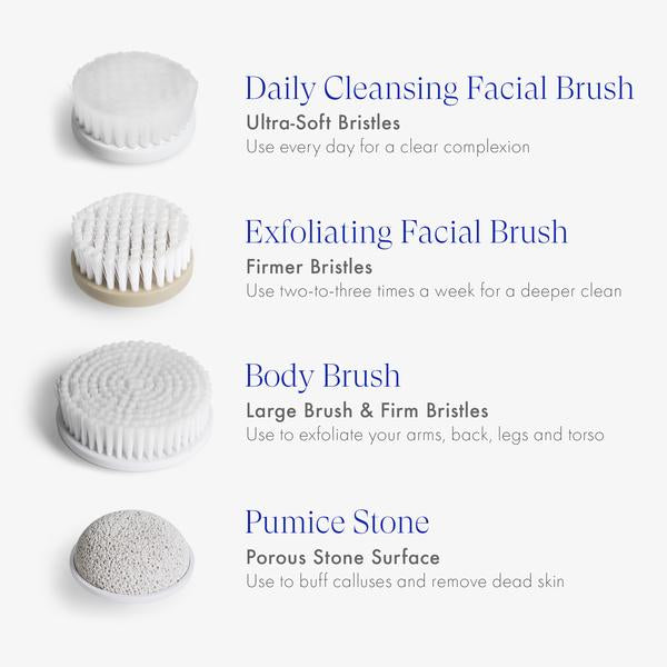 Spin For Perfect Skin Face Body Cleansing Brush Vanity Planet