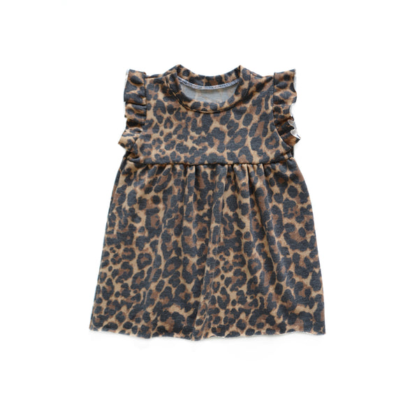 Leopard Print French Terry Dress
