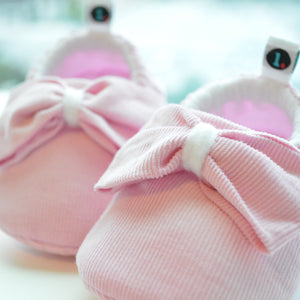 Bubblebum Pink Big Bow Theory Baby Shoes