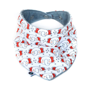 Crimson Elephants Baby Bib