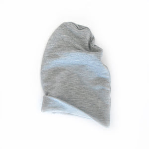 Heathered Grey Slouchy Beanie Baby Hat
