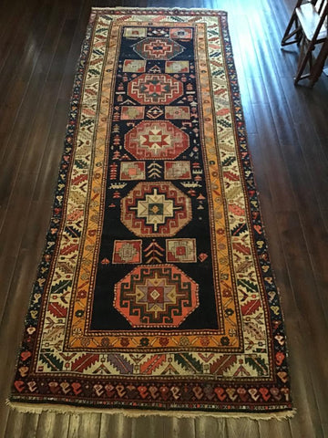 Late 19th Century Caucasian Runner 3.20X1.15