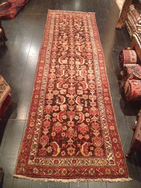 Early 1900's Malayer Runner 3.15 x 0.95