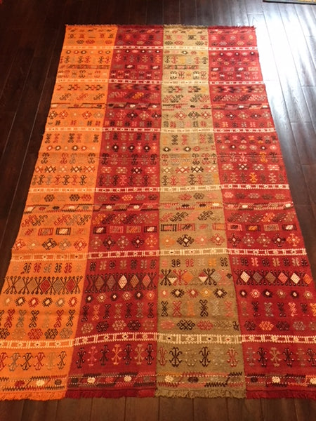 1930s Turkish Tribal weaving 2.20X1.26