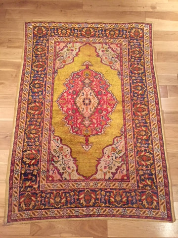 1900 - 1920 Silk Turkish Rug 1.63X1.16