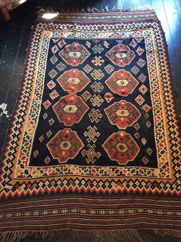 Early 1900s Tribal Qashqai Persian Kilim 2.35X1.50