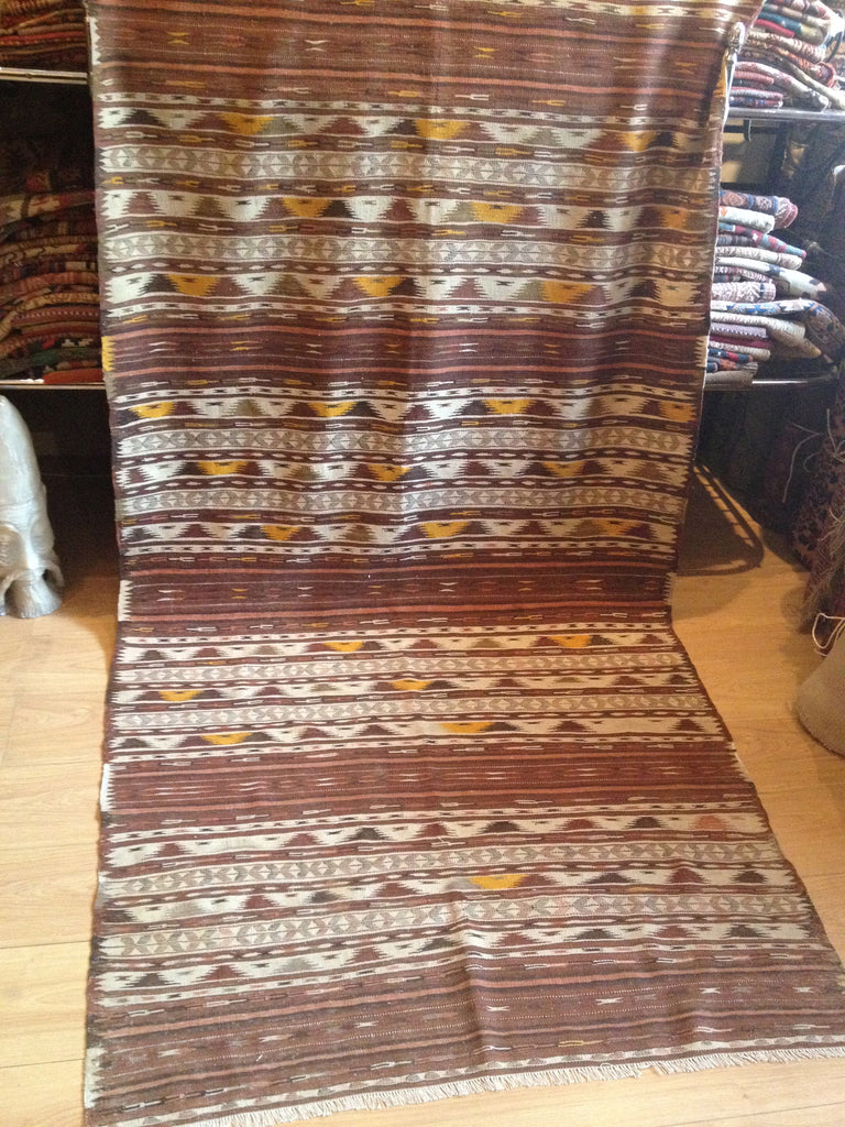 1920's East Turkistan Kilim 2.75 x 1.20