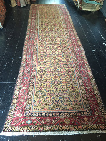 1920's NW Persian Malayer Runner 3.53X1.00