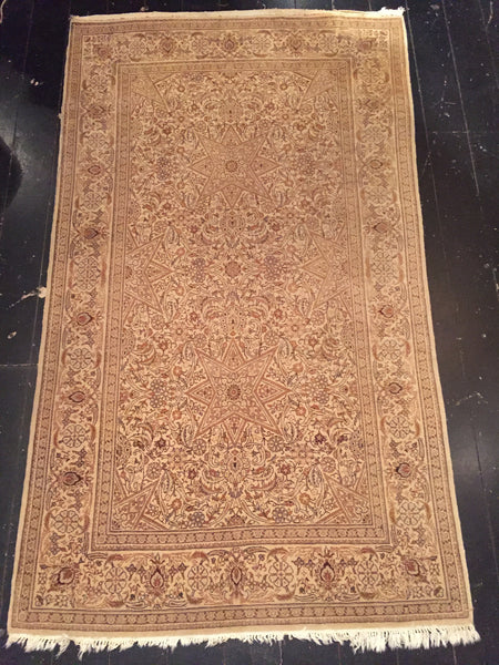 Early 1900's Fine Persian Tabriz Rug 2.25 x 1.26