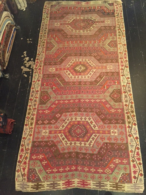 Early 1900s Aydin Kilim 3.40X1.50