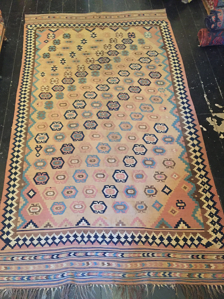 Early 1900's Tribal Persian Qashqai Kilim