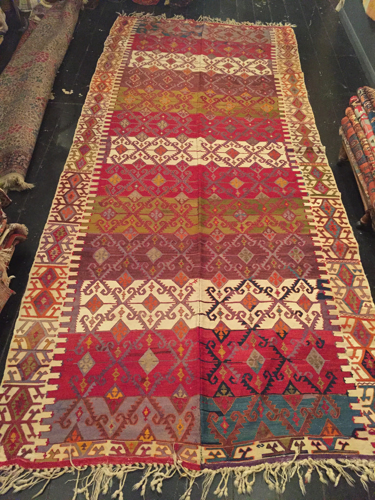 "Early 1900s ""Armenian"" Kilim 3.65X1.55"