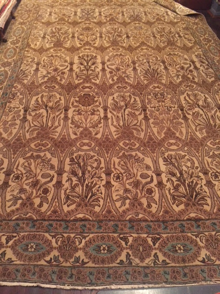 "1900s Persian ""Qum"" carpet 3.45 X 2.24"