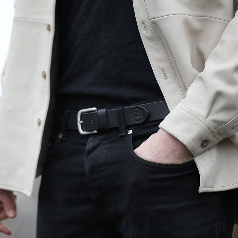 Dress Belt - Black / Silver (29 mm)
