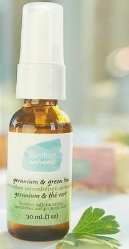 Barefoot Naturals Geranium and Green Tea Facial Serum - 30 ml
