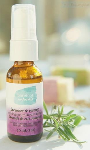Barefoot Naturals Facial Serum Lavender and Rosehips - 30 ml
