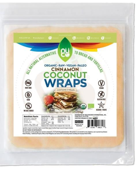 Nuco Coconut Wrap Cinnamon