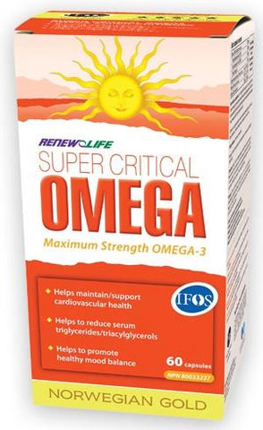 Renew Life Norwegian Gold Super Critical Omega 60 Caps