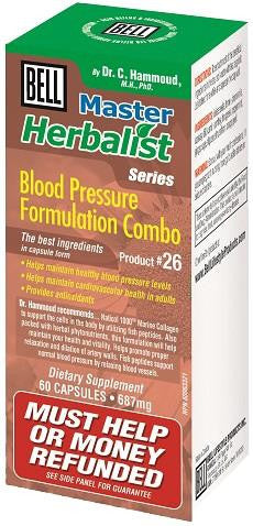 Bell Blood Pressure Formulation Combo 60 Caps