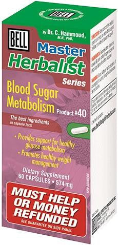 Bell Blood Sugar Metabolism 60 Caps