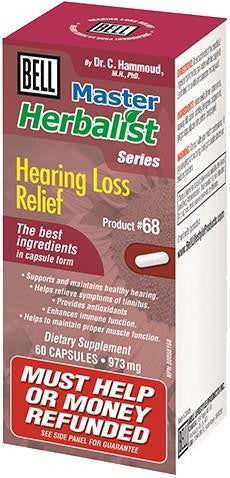 Bell Hearing Loss Relief 60 Caps