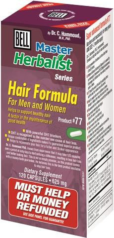 Bell Hair Formula for Men & Women - 120 Caps