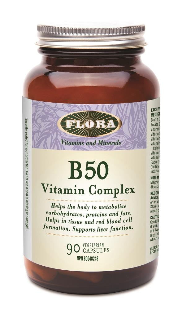 Flora B50 High Potency Complex 90 VCaps