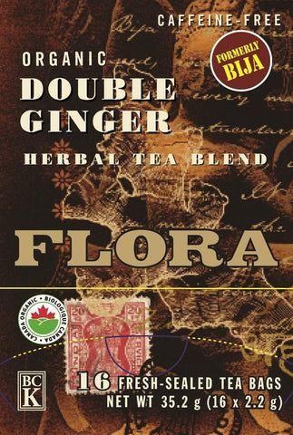 Flora Double Ginger Tea Caffeine Free 16 Bags