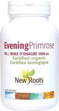 New Roots Evening Primrose Oil Organic 1000mg 180 Caps