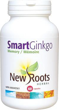 New Roots Smart Ginkgo 60 Caps