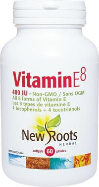 New Roots Vitamin E8 400 IU 60 Caps