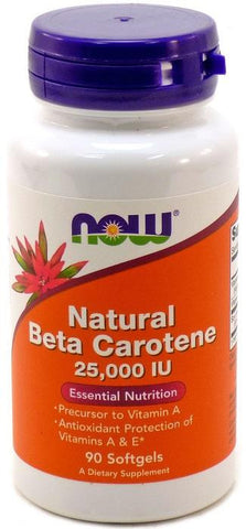 NOW Beta Carotene 25000 IU 90 Softgels