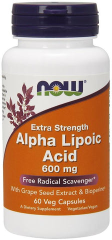 NOW Alpha Lipoic Acid 600mg 60 VCaps