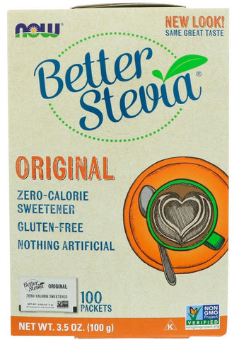 NOW BetterStevia Extract Packets 100 Packets