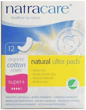 Natracare Maxi Pads Super Plus - 12pc