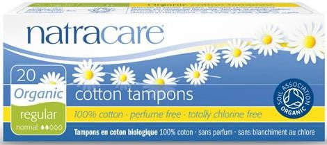 Natracare Organic Cotton Tampons Regular without applicator