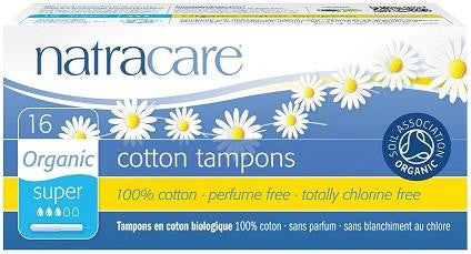 Natracare Organic Cotton Tampons Super with applicator