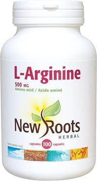 New Roots L-Arginine 500mg 100 Caps